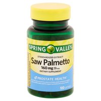 Spring Valley Saw Palmetto Extract Softgels, 160 mg, 100 Ct