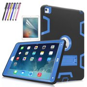 iPad Air 2 Case, Mignova Heavy Duty rugged impact Hybrid Protective Case with Build In