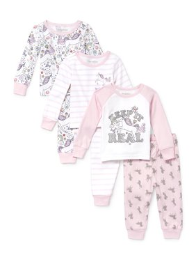Long Sleeve Tight Fit Pajamas, 6-piece Set (Baby Girls & Toddler Girls)