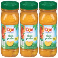 (3 Pack) Dole Yellow Cling Sliced Peaches in 100% Fruit Juice, 23.5 oz