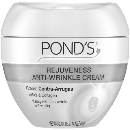 Pond's Rejuveness Anti Aging Face Cream for Fine Lines and Wrinkles, with Alpha Hydroxy Acid and Collagen, 14.1