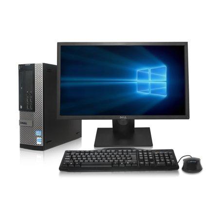 ReCircuit Dell Optiplex 9010 Desktop Computer - Intel Quad Core i5 up to 3.4GHz, 16GB RAM, New 500GB Solid State Drive, Windows 10 Pro 64-Bit, WiFi, New Dell 24
