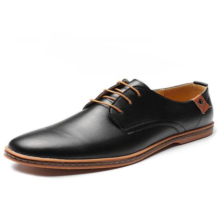 Meigar Mens Lace-up Faux Leather Oxford Derby Dress Shoes ()