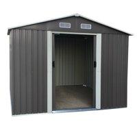 Large 8.5'x6.8'x6.3' Outdoor Backyard Garden Storage Shed