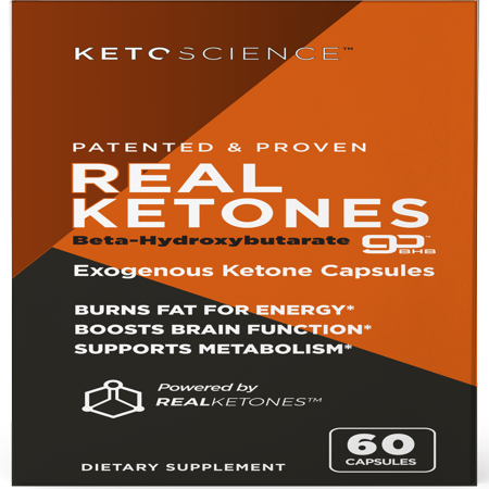 Keto Science Real Ketones Caps Dietary Supplement, 56 Capsules, 14