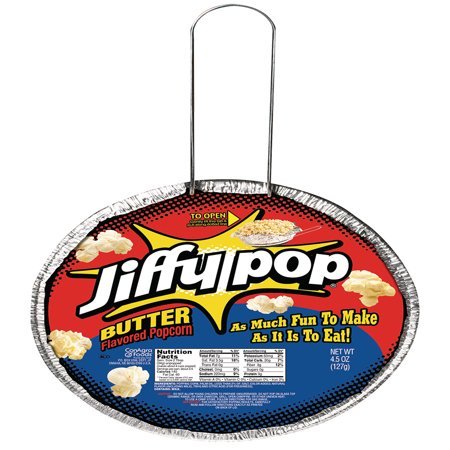 3 Way Popcorn Gift Tin - (4 Pack) Jiffy Pop Butter Flavored Popcorn, 4.5 Oz.