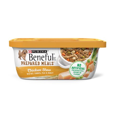 Barkley Dog - Purina Beneful Gravy Wet Dog Food, Prepared Meals Chicken Stew - (8) 10 oz. Tubs