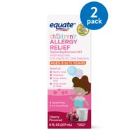 (2 Pack) Equate Children's Allergy Relief, Cherry, 8 Fl Oz