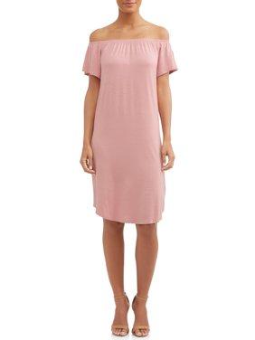 Women's Off The Shoulder Shift Dress