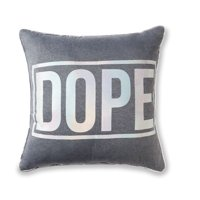 Mainstays Dope Holographic Word Throw Pillow