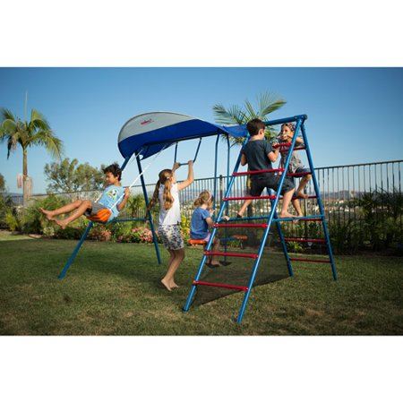 Ironkids Inspiration 100 Metal Swing Set With Ladder Climber And Uv