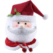 28a54374c124b Holiday Time Santa Tree Topper Classic Design with Signature Red and White  Hat