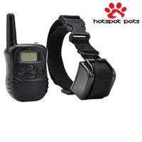HotSpot Pets Wireless Rechargeable Dog Training Collar W/ 100 Level Tone, Vibration & Shock