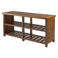 "Winsome Wood 33348 38.39"" X 11.81"" X 18.27"" Teak Keystone Shoe Bench"