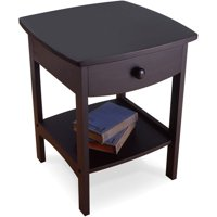 Winsome Trading Curved 1-Drawer Nightstand / End Table