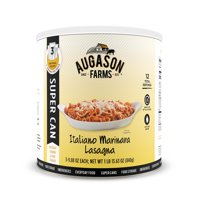 Augason Farms Italiano Marinara Lasagna SUPER CAN with 3 Pouches
