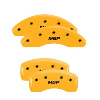 MGP 4 Caliper Covers Engraved Front Honda Engraved Rear H Logo Yellow finish black ch