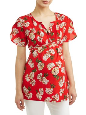 Maternity Floral Button Front Top - Available in Plus Sizes