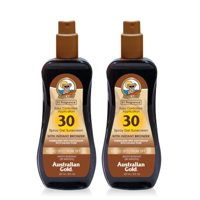(2 Pack) Australian Gold SPF 30 Spray Gel Sunscreen w/ Instant Bronzer, 8 FL OZ