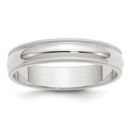 Roy Rose Jewelry Sterling Silver 5mm Half Round Milgrain Wedding Band Ring (Jewelry Silver Bands)