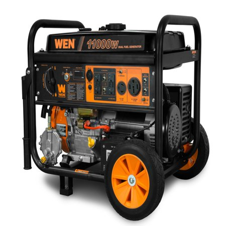 - WEN 11,000-Watt 120V/240V Dual Fuel Portable Generator with Wheel Kit and Electric Start - CARB Compliant