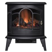 """AKDY FP0085 20"""" Freestanding Portable Electric Fireplace Black 3D Flames Remote Logs Heater"""