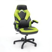 OFM Essentials Racecar-Style Leather Gaming Chair, Multiple Colors