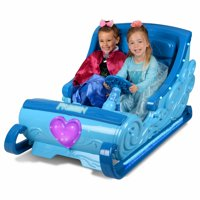 Disney Frozen Sleigh 12-Volt Battery Powered Ride-On for your little Elsa and Anna - Hours of Fun!