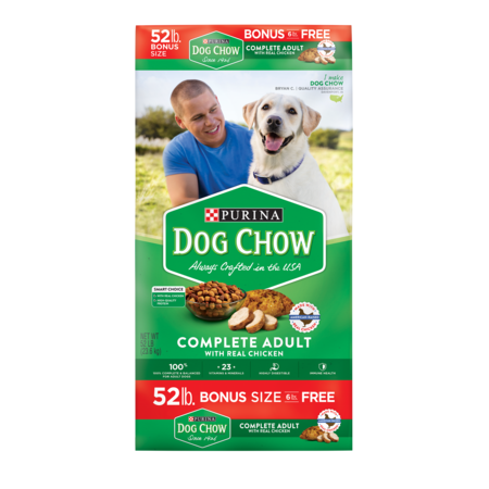 Purina Dog Chow Complete Adult Bonus Size Dry Dog Food, 52 (Best Dog Food For Chihuahua With Sensitive Stomach)