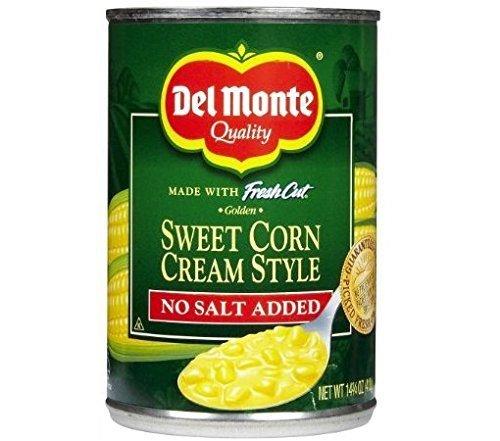 (6 Pack) Del Monte Fresh Cut Golden Sweet Corn Cream Style, No Salt Added, 14.75 Oz (Sweet Cut Corn)