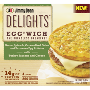 Jimmy Dean Delights® Bacon, Spinach, Onion Egg'wich, 4 Count