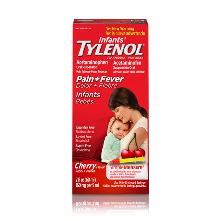 Infants' Tylenol Acetaminophen Liquid Medicine, Cherry, 2 fl. (Best Medicine To Reduce Fever)