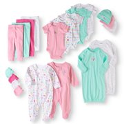 60441b1db Garanimals Newborn Baby Girl 20 Piece Layette Baby Shower Gift Set