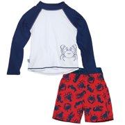 4ed451e63d Sun Smarties Baby Boy Swim Diaper and Rashguard - Red, White and Blue  Sealife -