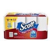 Scott Paper Towels, 12 Mega Rolls (22 Regular Rolls), Choose-A-Sheet