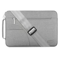 Mosiso Laptop Shoulder Bag for 13-13.3 Inch MacBook Pro, MacBook Air, Ultrabook Netbook Tablet, Polyester Ultraportable Protective Briefcase Cover,Gray