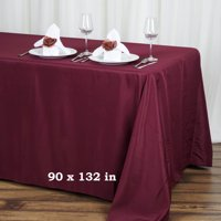"""Efavormart 90x132"""" Polyester Rectangle Tablecloths for Kitchen Dining Catering Wedding Birthday Party Decorations Events"""