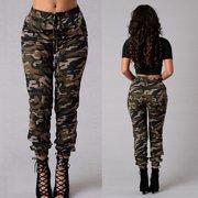 Fashion Women Camouflage Pants Camo Casual Cargo Joggers Military Army  Harem Trousers 05b2b8b8929
