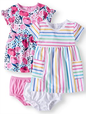 Baby Girls' Knit Dresses, 2-Pack