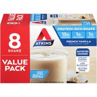 Atkins French Vanilla Shake, 11Fl oz, 8-pack (Ready to Drink)