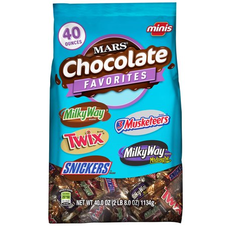 Mix Dark Chocolate - MARS Chocolate Minis Size Candy Variety Mix, 40 Ounce Bag