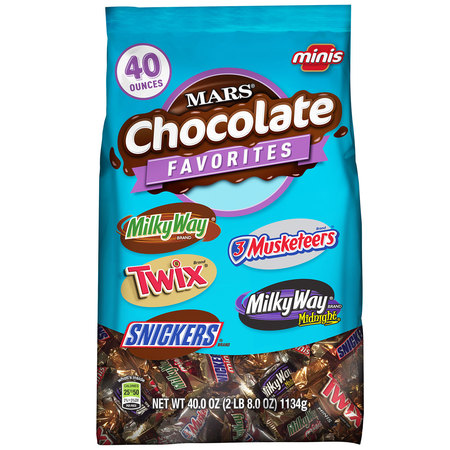 MARS Chocolate Minis Size Candy Variety Mix, 40 Ounce Bag - Chocolate Dipped Halloween Treats