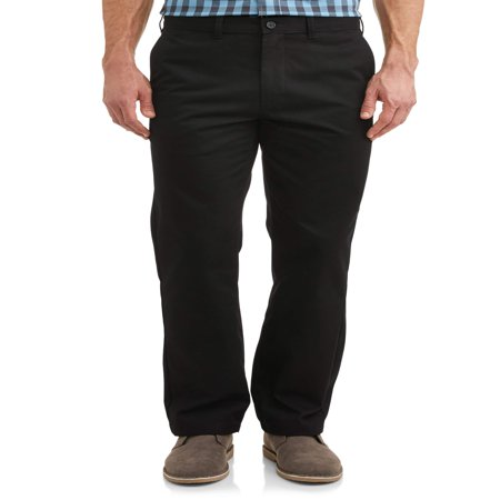 George Men`s Flat Front Wrinkle Resistant Pant