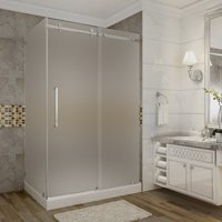 Aston Moselle 48'' x 77.5'' Rectangle Sliding Shower enclosure with Base Included