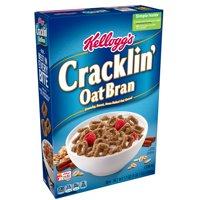 (2 Pack) Kellogg's Cracklin' Breakfast Cereal, Oat Bran, 17 Oz