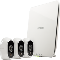 Arlo 720p Security Camera System VMS3330 - 3 Wire-Free HD Cameras, Indoor/Outdoor, Night Vision, White