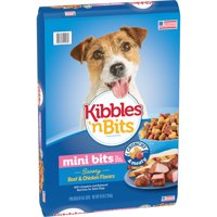 Kibbles 'n Bits Mini Bites Small Breed Savory Beef and Chicken Flavors Dog Food, 16-Pound
