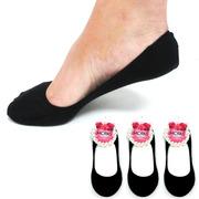 3 Pairs Black Womens Ladies No Show Foot Cover Footies Liner Low Cut Socks