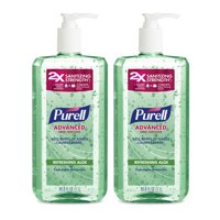 (Pack of 2) PURELL® Advanced Hand Sanitizer Aloe Gel, 1 L Pump