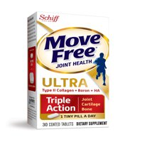 Move Free Ultra Triple Action, 30 tablets, Joint Health Supplement with Type II Collagen, Boron and HA – One Tiny Pill